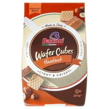Balconi Wafer Hazelnut Cubes 250G