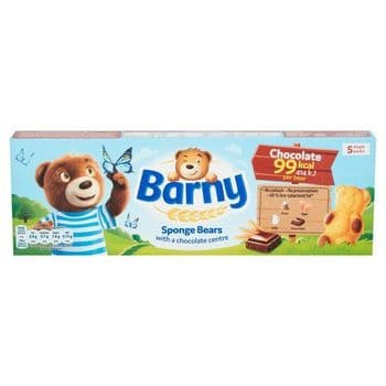 Barny Chocolate Sponge Bears 5 Pack 125G