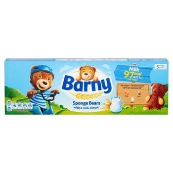 Barny Milk Kids Sponge Bear 5 Pack 125G
