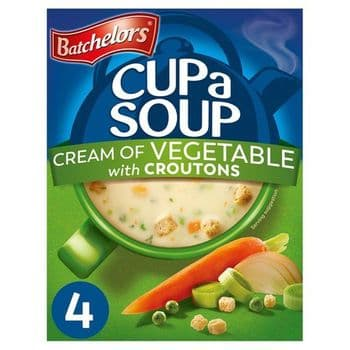 Batchelors Cup A Soup Powder Cream Of Vegetable 4S 122G