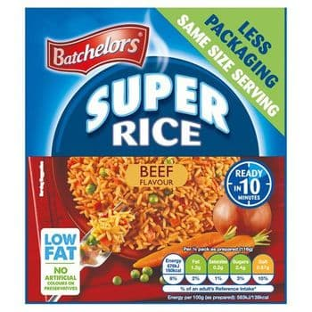Batchelors Super Rice Beef Quick Cook 90G
