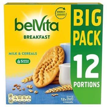 Belvita Milk & Cereal Biscuits 12 Pack 540G