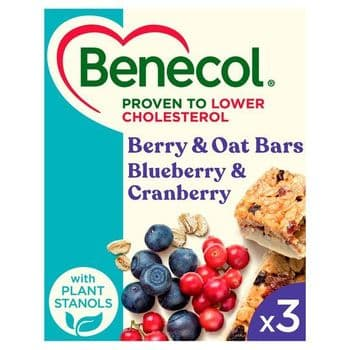 Benecol Blue Berry & Cranberry Bars 3 X40g