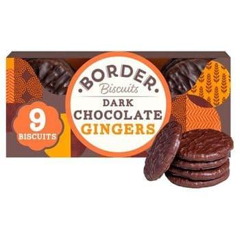 Border Biscuits Dark Chocolate Ginger 150G