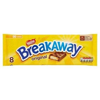 Breakaway Milk Chocolate Biscuit 8 Pack 152.8G