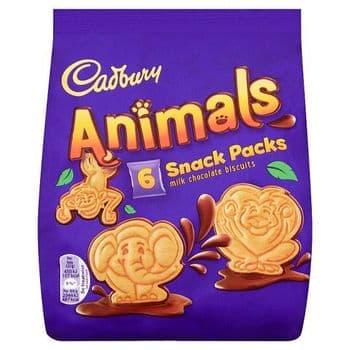 Cadbury Animals Snack Pack 6 Pack 132G