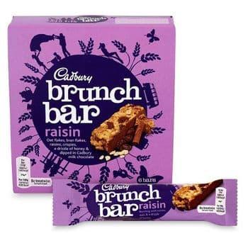 Cadbury Brunch Bars Raisin 6X32g