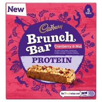 Cadbury Brunch Cranberry & Nut Protein Bar5pk 160G