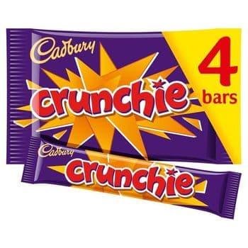 Cadbury Crunchie Bars 4 Pack 128G