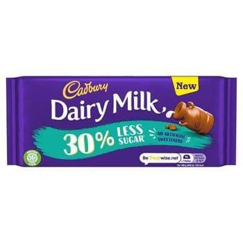 Cadbury Dairy Milk 30% Less Sugar 85G