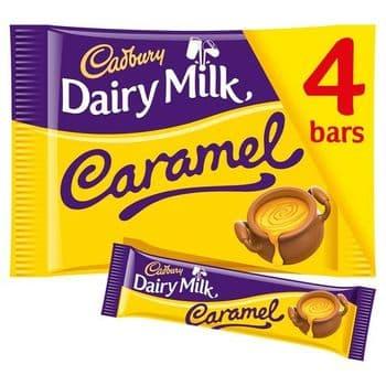 Cadbury Dairy Milk Caramel Chocolate Barsx4 148G