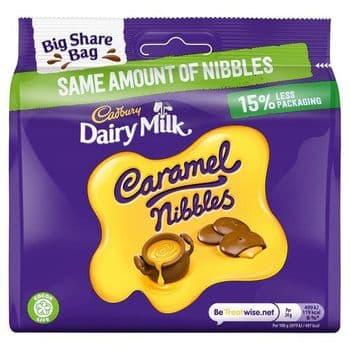 Cadbury Dairy Milk Caramel Nibbles Big Share Bag 242G