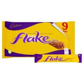 Cadbury Dairy Milk Flake Chocolate Bars X9 180G