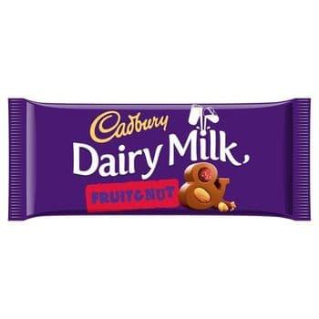 Cadbury Dairy Milk Fruit & Nut Chocolate Bar 110G