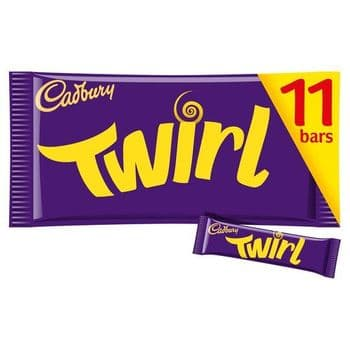 Cadbury Dairy Milk Twirl Chocolate Bars X11 236.5G