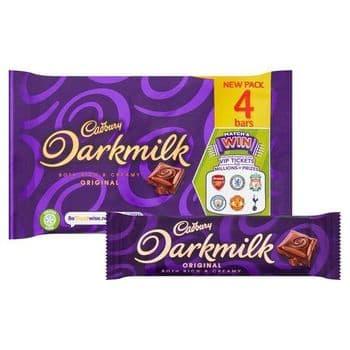 Cadbury Dark Milk Multipack 4Pack 112G