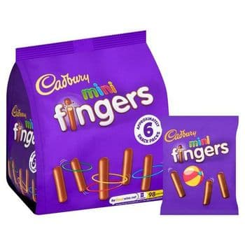 Cadbury Mini Fingers Snack Pack 6X19.3G