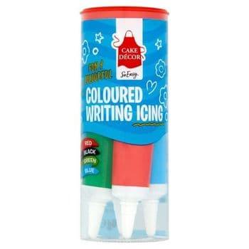 Cake Decor Coloured Writing Icing 76G