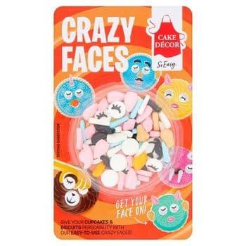 Cake Decor Crazy Faces 22G