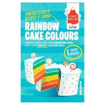 Cake Decor Rainbow Cake Colours Kit 50G