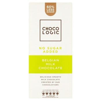 Chocologic No Added Sugar Milk Chocolate Bar 80G