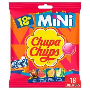 Chupa Chups 18 Mini Lollipops 108G