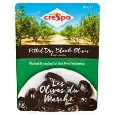 Crespo Dry Black Olives Pouch 150G