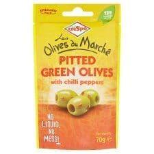 Crespo Olives With Chilli Pepper 70G