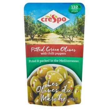 Crespo Olives With Chilli Pepper 70G a