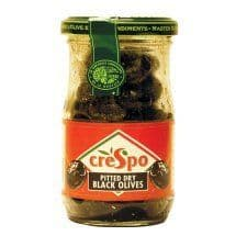 Crespo Pitted Dry Black Olives 110G
