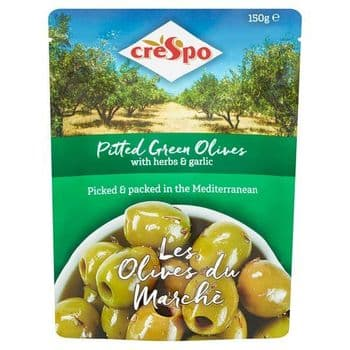 Crespo Pitted Green Olives With Herbs & Garlic 150G