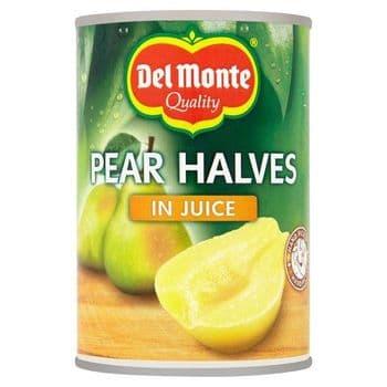Del Monte Pear Halves In Juice 415G