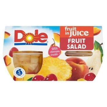 Dole Fruit Salad With Cherry 4X113g