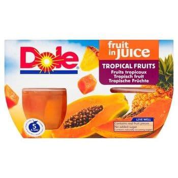 Dole Tropical Fruit In Juice 4X113g
