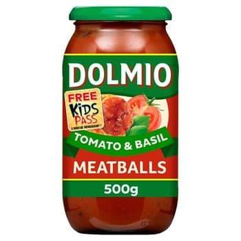 Dolmio Meatball Tomato & Basil Pasta Sauce 500G