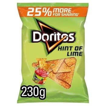 Doritos Hint Of Lime Tortilla Chips 230G