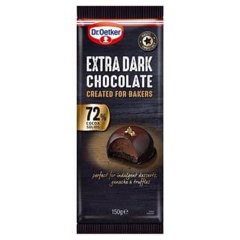 Dr Oetker Fine Cooks Chocolate Extra Dark 150G