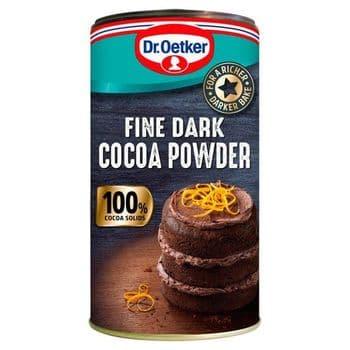 Dr Oetker Fine Dark Cocoa Powder Tub 190G