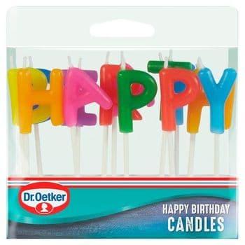 Dr Oetker Happy Birthday Candles