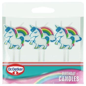 Dr. Oetker 6 Unicorn & Rainbow Birthday Candles
