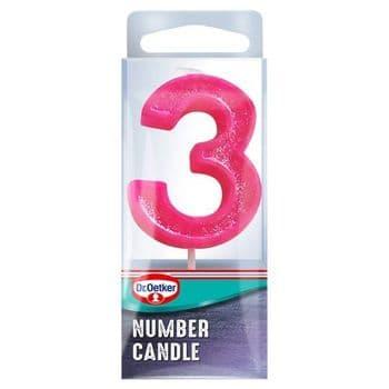 Dr. Oetker Number 3 Candle