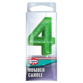 Dr. Oetker Number 4 Candle