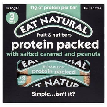 Eat Natural Protein Packed With Salted Caramel 3X45g
