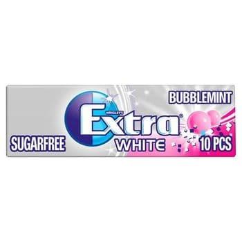 Extra White Bubblemint Gum 10 Pieces