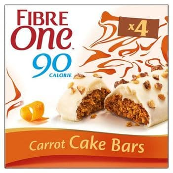 Fibre One Cake Bars Carrot Cake 4 X 25G