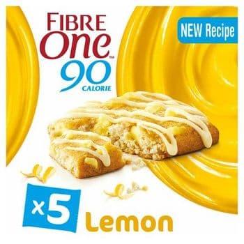 Fibre One Lemon Drizzle Reduced Sugar Squares 5 X 24G
