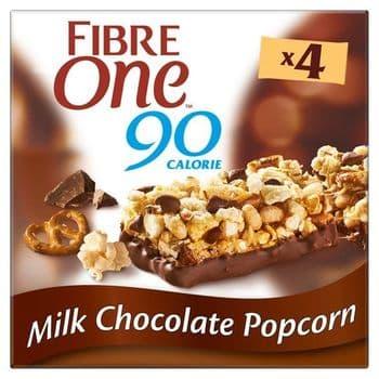 Fibre One Milk Chocolate Popcorn Bars 4 X 21G