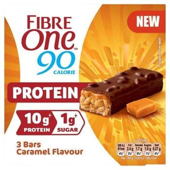 Fibre One Protein Bars Caramel & Nuts 3X24g