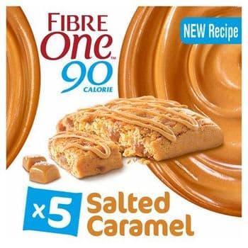 Fibre One Reduced Sugar Salted Caramel Squares 5X24g