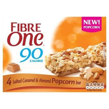 Fibre One Salted Caramel & Almond Popcorn Bar4x21g